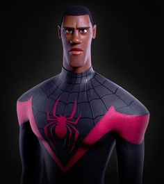 """@zbrushtuts on Instagram: """"Miles Morales / Spider-Man by Alexandre Arpentinier @wokeo (Character Artist) Alexandre Arpentinier used ZBrush for modeling, Substance…"""""""