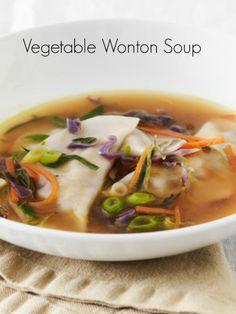 Vegetable Wonton Soup