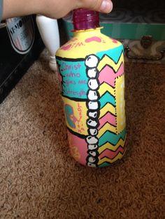 painted Nalgene bottle.