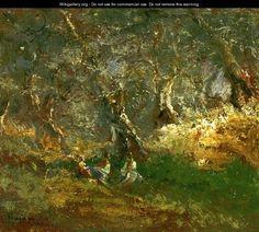 Olive Trees in Bordigera - Pompeo Mariani (Italian, 1857-1927)