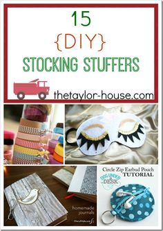 Homemade Christmas Gifts for kids and more 15 DIY Stocking Stuffer Ideas