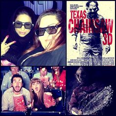 Ok girls let's do this lets watch Texas Chainsaw Massacre 3d..     My favorite type of movie is Horror but it's not my girlfriends favorite, that's why I always have to drag them to the cinema to watch horror movie which I don't mind doing    Half way through the movie the girls start disappearing and am left alone     I give the movie 7/10, it was entertaining ❤