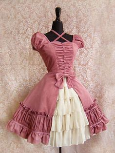 Comes in pink, brown, red, black. All with corset backs. Now all I need is a fancy dress event!