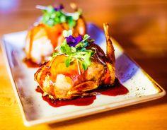 Quails stuffed with foie gras rissoto with veal demi glaze