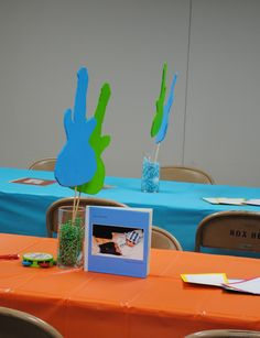 Liam's first birthday - musical toy theme - tables