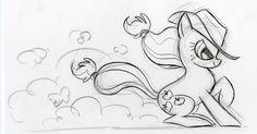 #26147 - applejack, artist:lauren faust, behind the scenes, color me, concept art, monochrome, safe - Derpibooru - My Little Pony: Friendship is Magic Imageboard