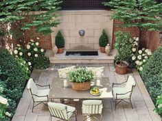 Classy Small Backyard Patio Design Ideas - Page 52 of 69 Small Backyard Design, Small Backyard Landscaping, Small Patio, Patio Design, Backyard Patio, Backyard Ideas, Patio Ideas, Landscaping Ideas, Courtyard Design