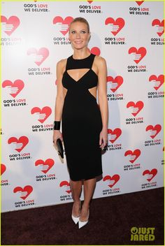 Gwyneth Paltrow at the Golden Heart Gala. Cut-out dress!
