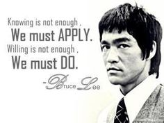 The wisdom of Bruce Lee