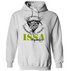 ISSA Family - Strength Courage Grace - #vintage sweater #sweater boots. THE BEST => https://www.sunfrog.com/Names/ISSA-Family--Strength-Courage-Grace-ighkjzpetf-White-50527167-Hoodie.html?68278