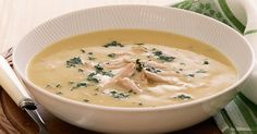 This creamy chicken soup is sure to become a family favourite .