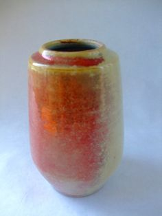 A vintage West German ceramic vase from well-respected studio potter Johannes Andreas Urban.  This is a little beauty of a vase, glazed with