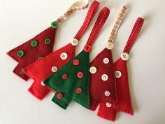 Christmas Tree Felt Decorations  £3.50