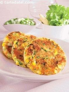 Suggested serving size for 100 calories: 2 tikkis simple to make and delicious to taste. This starter is sure to win praises for you in a healthy or low cal dinner party.