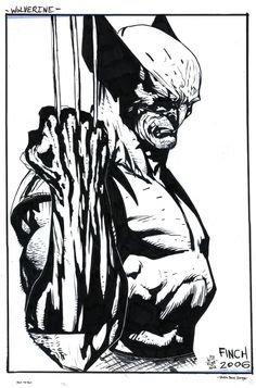 Wolverine posing for the camera This was quick and fun, might try this piece again for a tighter nib feel. Pencils by David Finch Inks by Piece was scan. Marvel Wolverine, Wolverine Tattoo, Logan Wolverine, Marvel Comics Art, Comic Book Artists, Comic Book Heroes, Comic Artist, Comic Books Art, David Finch