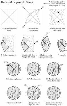 Origami Pentagon Rose Diagram