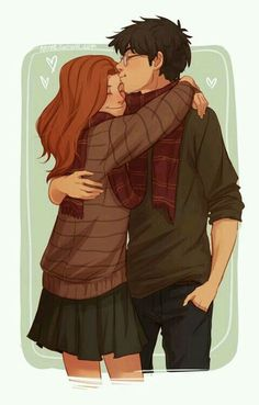 Harry potter, ginny weasley, and fanart image Harry Potter Anime, Harry Potter Fan Art, Gina Harry Potter, Harry Et Ginny, Harry Potter Words, Harry Potter Couples, Harry Potter Ginny Weasley, Harry Potter Comics, Harry Potter Drawings
