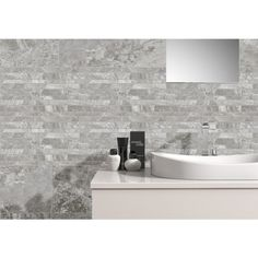 Queenstone Grey Glazed Porcelain Mosaic Wall and Floor Tile