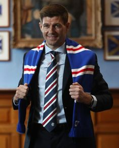 Steven Gerrard at Rangers Liverpool Captain, Liverpool Legends, Liverpool Fc, Football Liverpool, Rangers Football, Rangers Fc, Steven Gerrard, Old Firm, Stevie G
