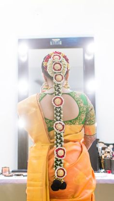"Photo from album ""Wedding photography"" posted by photographer Karthikandmanasa Bridal Hairstyle Indian Wedding, Indian Bridal Hairstyles, Bun Hairstyles, Wedding Hairstyles, Hair Buns, Wedding Preparation, Mehendi, Braids, Wedding Photography"