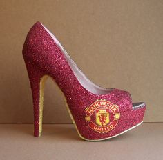 Manchester United Football Club High Heels by TattooedMary on Etsy, $120.00