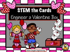 Engineer a Valentine Box :  STEM the CardsHave your students apply their structural engineering and measurement skills to design and construct a Valentine box.This engineering energizer is a STEM lesson that integrates measurement and geometry. Cardboard from empty cereal boxes, rulers, tape, paperclips, string, and brad fasteners along with rulers and scissors will be all you need for an interesting STEM lesson.