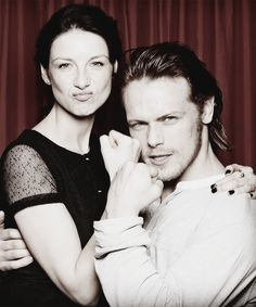 Caitriona Balfe, Sam Heughan aka Claire and Jamie of Outlander