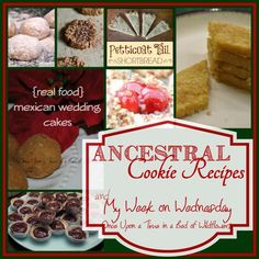 Ancestral Cookie Recipes: A Round-up via Once Upon a Time in a Bed of Wildflowers