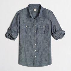 Factory petite two-pocket chambray shirt - Petites - FactoryWomen's Factory Women_Feature_Assortment - J.Crew Factory