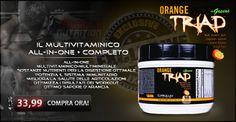 """Per i clienti più esigenti un altra ESCLUSIVA Muscle Nutrition. """"L'Orange Triad +Greens"""" della Controlled Labs. L'All-In-One multivitaminico, multiminerale, arricchito di ingredienti per favorire il sistema digerente, immunitario ed articolare. Tutto in un unico prodotto dal gusto gradevole. Info Prodotto -->http://goo.gl/hRnPXp"""