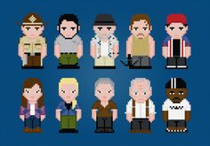 The Walking Dead TV Characters  Season 1  by AmazingCrossStitch, $7.00