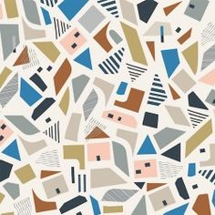 City Buildings 'New Horizons' printed cotton fabric collection from Ali Brookes for Dashwood Studio with contemporary geometric themes, suitable for dressmaking, bedding, quilting and soft homewares. Textures Patterns, Print Patterns, Surface Pattern Design, Abstract Pattern, Background Patterns, Geometric Shapes, Lana, Print Design, Quilts