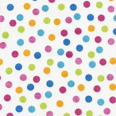 Sketch Dot Cotton Fabric Collection by Timeless Treasures! Candy, Sweet, Brite, Black, Multi