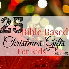 Enjoy these ideas for Bible based, Christ centered Christmas gifts for kids ages 4-8 that won't break the bank or add to the clutter!