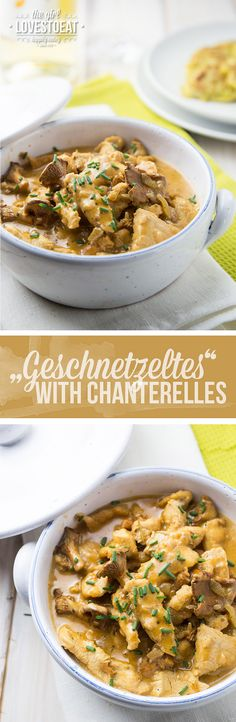 Geschnetzeltes with Chanterelle Mushrooms { thegirllovestoeat.com }