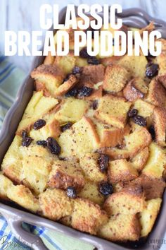 Easy Bread Pudding Bread pudding is essential for Easter! This easy homemade bread pudding recipe is made using just a few ingredients and is so moist and creamy. With or without raisins, you will lov Southern Bread Pudding Recipe, Bread Pudding With Apples, Chocolate Bread Pudding, Pudding Recipes, Easy Bread Pudding, Old Bread Recipe, Old Fashion Bread Pudding Recipe, Traditional Bread Pudding Recipe, Bread Recipes