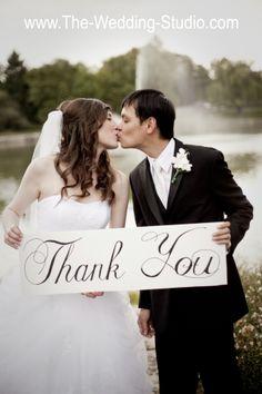 Bride Groom Wedding Thank You Sign The Studio Schaumburg IL