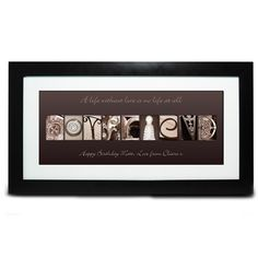 Personalised Affection Art Boyfriend Frame  from Personalised Gifts Shop - ONLY £19.95