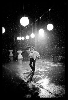 I want to dance in the rain. on my wedding day. in my wedding dress.