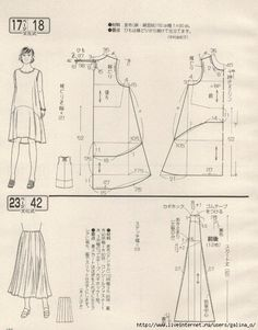 Amazing Sewing Patterns Clone Your Clothes Ideas. Enchanting Sewing Patterns Clone Your Clothes Ideas. Japanese Sewing Patterns, Dress Sewing Patterns, Clothing Patterns, Sewing Clothes, Diy Clothes, Ladies Clothes, Make Your Own Clothes, Modelista, Japanese Books