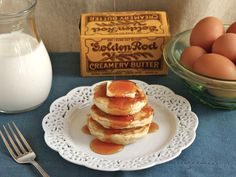 Do you ever wonder what your ancestors ate for breakfast? There's a good chance that, just like Gary Cooper, they enjoyed Buttermilk Griddle Cakes. Try this #ThrowbackThursday recipe! #EatLikeYourAncestors