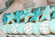 mermaid starfish cookies