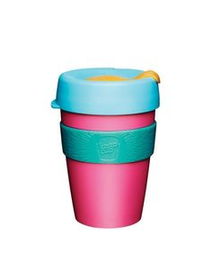 The world's first barista standard reusable cup. KeepCup Original is lightweight, light-hearted and available in a range of bright colours. Made from separable and replaceable BPA/BPS free plastic components. Colour Blocking Interior, Colour Blocking Fashion, Color Blocking, Plastic Components, Glass Coffee Cups, Reusable Coffee Cup, Original Travel, Travel Cup, Change Maker