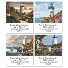 Like the lighthouses depicted on this delightful set of labels, your letters and packages will be a beacon signaling to friends and acquaintances that.