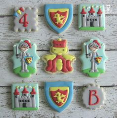 One Dozen 12 Noble Knights Themed Decorated Sugar by DolceDesserts, $42.00