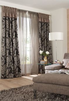 Window Treatment Ideas and Curtain Designs Photos Indian Living Rooms, Living Room Modern, Designer Bed Sheets, Home Curtains, Custom Drapes, Curtain Designs, Window Treatments, Room Decor, Decoration