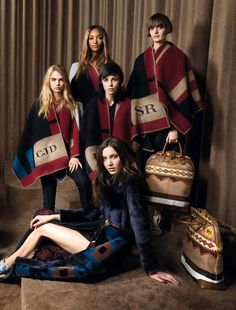 Cara Delevingne, Jourdan Dunn, Edie Campbell, Sam Rollinson & Matilda Lowther by Robert Fairer for Vogue UK May 2014