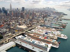 The New York cruise port is a spectacular complex that actually accommodates two distinct departure points, one in Manhattan and the other in Brooklyn. Description from cruisedealsinfo.com. I searched for this on bing.com/images