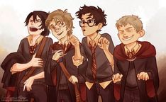 This 'Harry Potter' fan art follows the Marauder's through their years at Hogwarts.