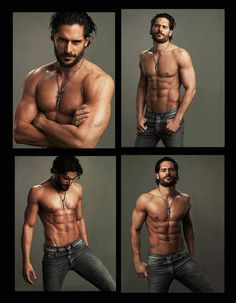 Oh my good god. I'm sorry men. I might be a geek loving sci fi mad Trekkie but I still need eye candy from time to time. True Blood's Joe Manganiello just popped up on my facebook with no clothes on looking FINE. I suddenly feel rather fai..*thud*